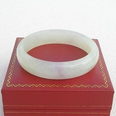 【歡喜心珠寶】【天然冰種石英岩玉手鐲】手圍18.8圍,商品為仿翡翠緬甸硬玉「D貨」