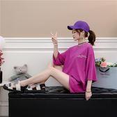 8687短袖T恤女裝夏裝韓版寬松百搭體恤中長款上衣ZL-E3F-E322紅粉佳人