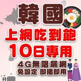 現貨 韓國 10日旅遊網卡 不降速 4G高速飆網韓國網卡吃到飽/南韓網卡/網路卡/韓國上網卡/韓國wifi
