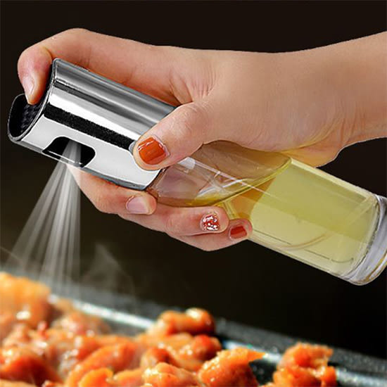 油壺 醬油瓶  酒瓶 玻璃 分裝瓶 防漏油罐 玻璃油壺 廚房 噴霧式油瓶(100ml)【R069】生活家精品