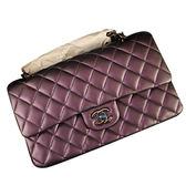 Chanel 新款炫彩紫色經典菱格肩背包 全新品