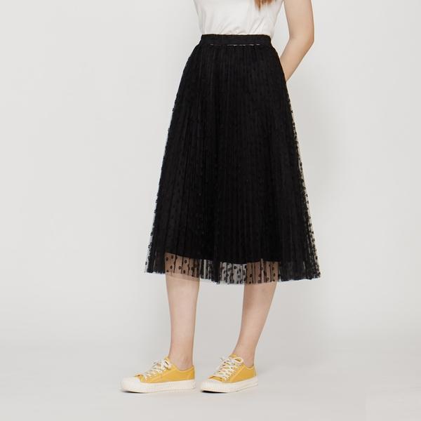 【中大尺碼】MIT甜美優雅百摺紗裙
