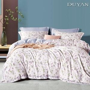 《DUYAN 竹漾》天絲雙人床包被套四件組-粉徑花緒 台灣製