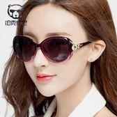 墨鏡 太陽眼鏡 太陽鏡女士潮新款明星韓版墨鏡防紫外線偏光眼鏡圓臉眼睛  歐萊爾藝術館