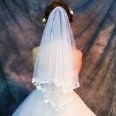 婚紗頭紗女新娘頭紗頭飾超仙短款