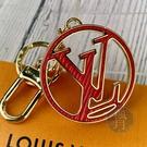 BRAND楓月 LOUIS VUITTON LV 路易威登 M68465 CIRCLE 雙色LOGO EPI 鑰匙圈