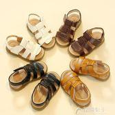 兒童涼鞋男童新款韓版夏季休閒沙灘鞋寶寶鞋大小童軟底花間公主