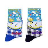 non-no儂儂褲襪《5入》日本製三麗鷗童襪(新幹線-格紋)4262-504