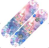 滑板車 抖音兒童四輪滑板4輪閃光雙翹板2-6-12歲小學生初學者滑板車男女【小天使】