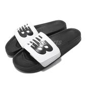 New Balance 拖鞋 NB 200 白 黑 男鞋 女鞋 運動拖鞋 【PUMP306】 SMA200W1D