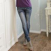 牛仔褲--跳脫傳統框架懶人鬆緊式窄管牛仔褲/鉛筆褲(S-7L)-N53眼圈熊中大尺碼