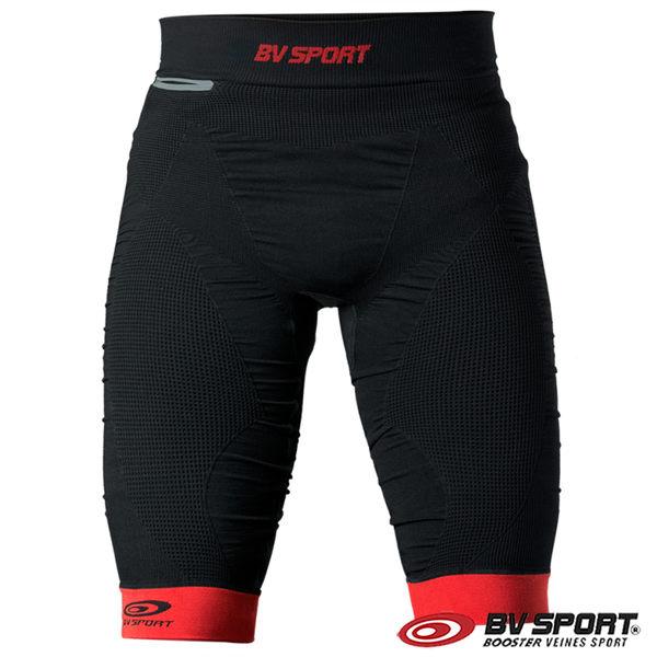 法國 BV SPORT TRAIL CSX 越野壓縮運動短褲 630/001『黑色/紅色』運動褲 緊身褲 慢跑