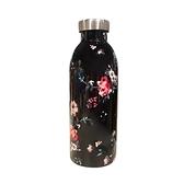義大利24Bottles不鏽鋼雙層保溫瓶 500ml - 黑夜玫瑰