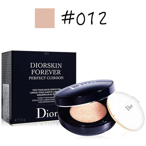 Dior迪奧 超完美持久氣墊粉餅15g 公司貨#012【QEM-girl】