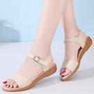 涼鞋女2021年夏季新款學生百搭中跟平底鞋孕婦媽媽鞋 黛尼時尚精品