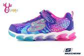 Skechers JELLY BEAMS 中童 LED燈 電燈鞋 運動鞋 慢跑鞋 R8205#藍紫◆OSOME奧森鞋業