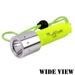 【WIDE VIEW】螢光T6潛水手電筒(NZL-WT6-P)