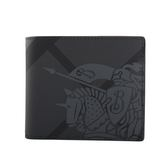 【BURBERRY】戰馬騎士London格紋對開短夾(炭灰/黑) 8006075 A1008