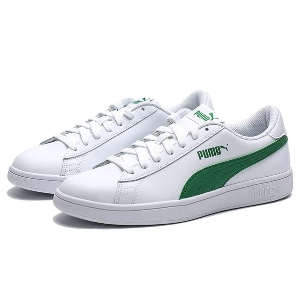 PUMA SMASAH V2 白綠 基本款 皮革 休閒鞋 情侶 男女 (布魯克林) 36521503