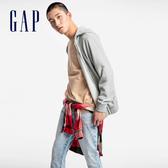 Gap男裝 棉質縮口拉鍊連帽外套 567865-麻灰色