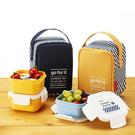 【索樂生活】韓國KOMAX 迷你餐盒三件組(附提袋)