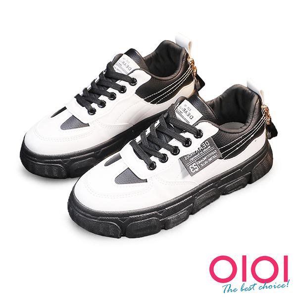 休閒鞋 個人風格造型帶厚底休閒鞋(黑) * 0101shoes 【18-M23bk】【現貨】