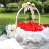 婚禮花童撒花瓣小花籃 結婚慶