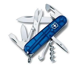 Victorinox 瑞士維氏 Climber 系列 1.3703.T2 (透明藍) 中型萬用刀 瑞士刀 14種功能 /支