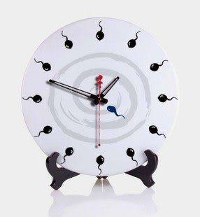 陶瓷鐘創意中式水墨