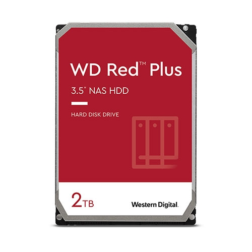 硬碟 WD 2T B 3.5吋 SATA3 紅標Plus NAS專用硬碟 WD20EFRX