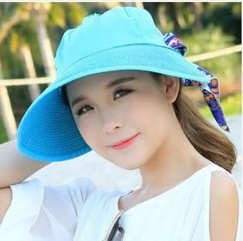 預購-韓版沙灘帽女大沿遮陽帽 防曬新款夏季平沿遮臉帽