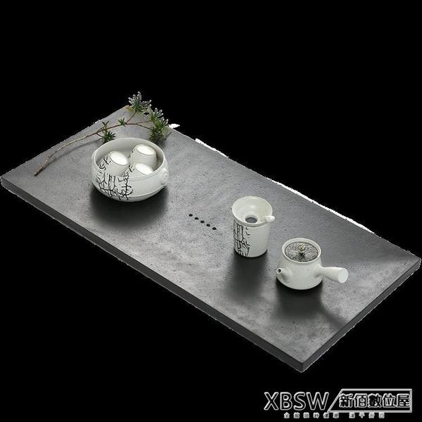 烏金石茶盤60公分家用石頭大理石茶台托盤茶海簡約功夫茶具