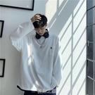 原宿風假兩件長袖t恤男韓版潮流春秋季上衣服潮牌ins情侶裝打底衫 快速出貨