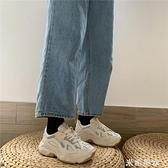 網紅超火老爹鞋子運動鞋女ins夏2020年潮厚底增高白色百搭新款鞋 米希美衣