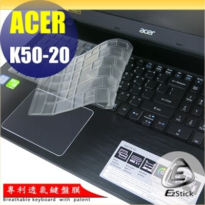 【Ezstick】ACER K50-20 系列 專利透氣奈米銀抗菌TPU鍵盤保護膜