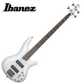 【敦煌樂器】IBANEZ SR300E PW 珍珠白色四弦電貝斯