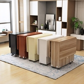 折疊餐桌用小戶型長方形簡約易多功能可伸縮移動吃飯桌子4人 MKS快速出貨