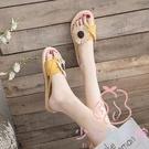 半平底防滑花朵夾趾涼拖人字拖鞋女外穿夏季...