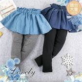(大童款-女)荷葉鬆緊腰造型內搭褲裙-2色(280549)★水娃娃時尚童裝★