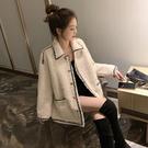 2019新款秋冬季韓版複古港味小香風短外套寬鬆百搭羊羔毛絨女裝潮