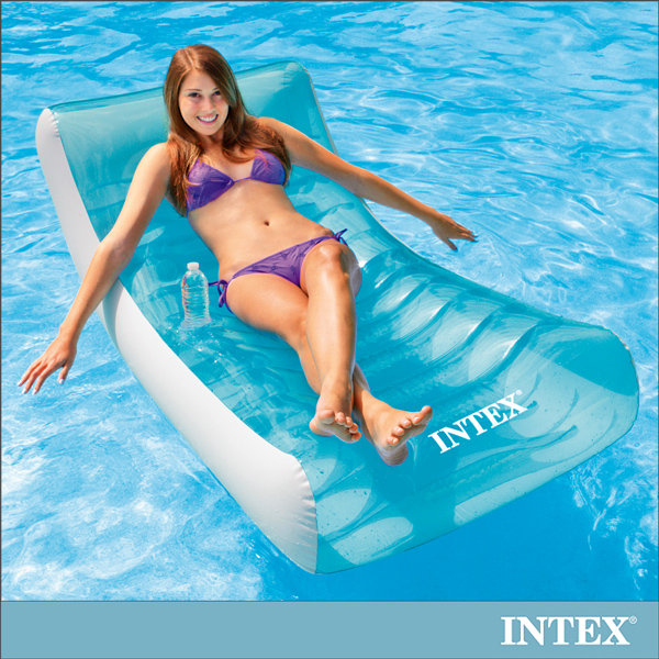 【INTEX】藍海戶外充氣躺椅/漂流躺椅 15030110(58856)