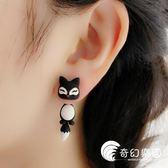 耳環-韓國創意個性時尚夸張卡通動物蝴蝶結貓咪耳釘耳環耳墜耳掛耳飾女-奇幻樂園