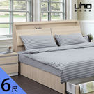 床頭箱【UHO】艾美爾6尺雙人加大下掀式床頭箱 免運費 HO18-449