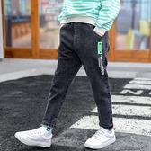 男童褲子2020秋裝新款兒童牛仔褲男孩秋季長褲加絨保暖修身小腳褲  【端午節特惠】