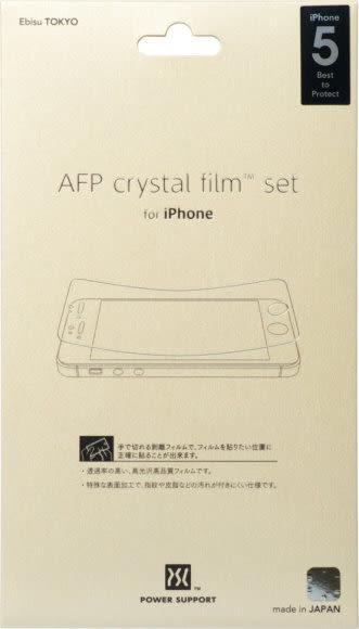【漢博】POWER SUPPORT iPhone SE/5/5S/5C 專用亮面保護膜(正面x2)