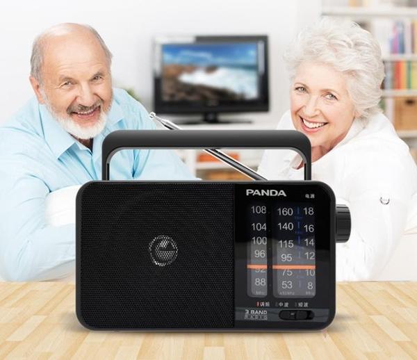 收音機半導體全波段老式調頻廣播老年人用便攜式全頻外放家用插電大音量免運快速出貨