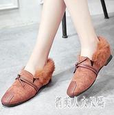 穆勒鞋女毛毛鞋女冬新款百搭韓版丑鞋加絨保暖豆豆鞋 zm6696『俏美人大尺碼』