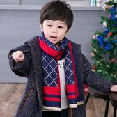 兒童圍巾韓版秋冬兒童保暖仿羊絨英倫圍脖小孩男童寶寶圍巾潮中童新年禮物
