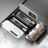 鉛筆盒 GOLOVE小學生文具盒男女款韓版多功能大容量鉛筆盒男女孩方形卡通簡約網紅創意筆袋 歐歐