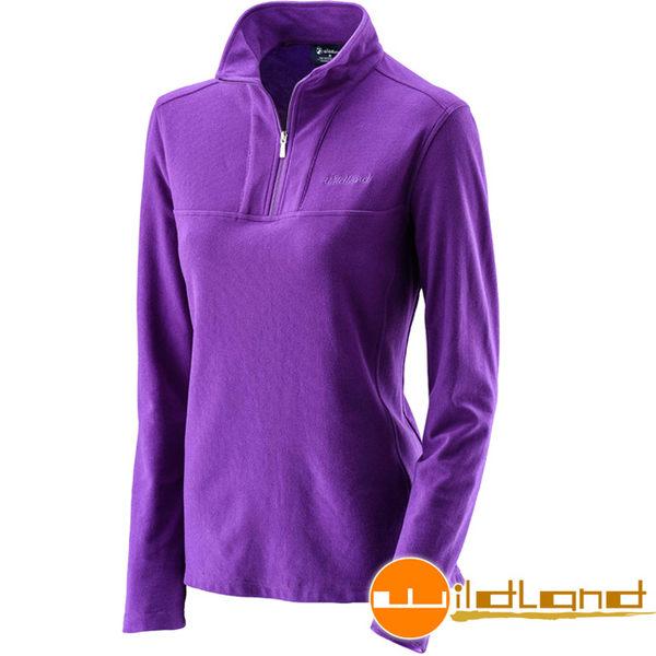 Wildland 荒野 0A22601-58葡萄紫 女彈性銀離子保暖抗菌上衣